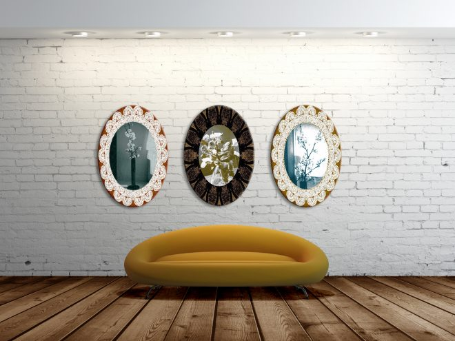 high resolution brick wall and gray floor